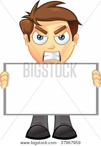 Business Man - Blank Sign - 2