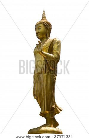 Golden buddha in Wat Ched Yod