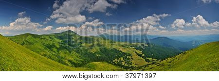 Highest Ukrainian Mountains Panorama