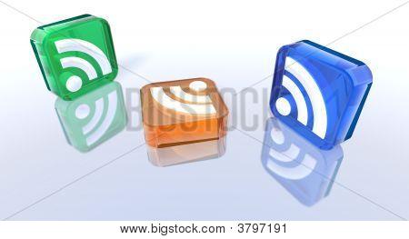 Colored Rss Symbols