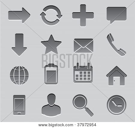 Set Icon toolbar vector