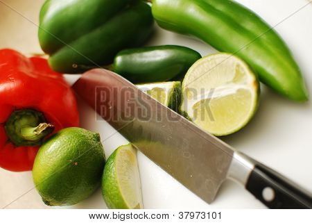 Knife and Peppers