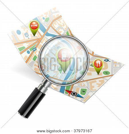 Concepto de búsqueda de navegación