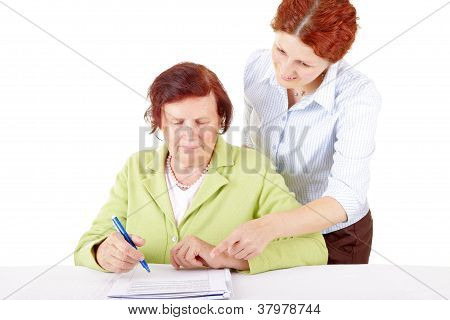 Women writting