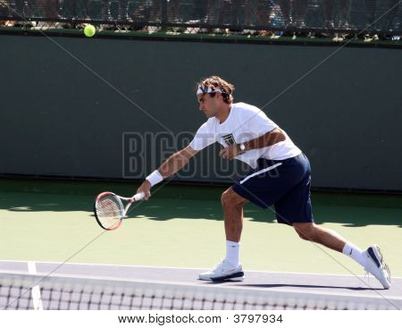 Roger Federer At Pacific Life Open