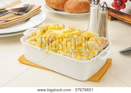 Tuna Casserole Topped With Cheese