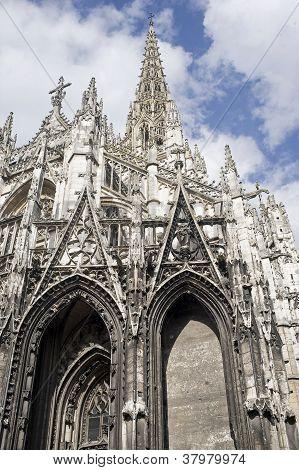 Rouen - Exterior Of Saint-maclou Church