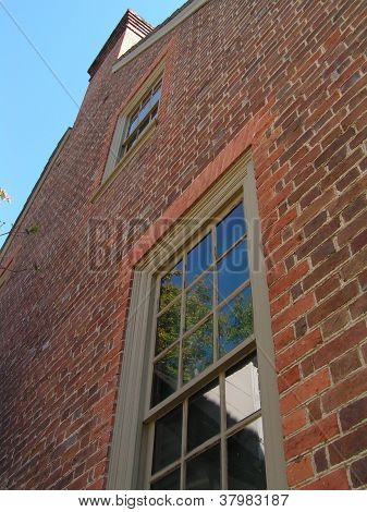 Brick Building With Reflection
