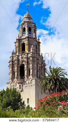 San Diego's Balboa Park Bell Tower in San Diego California