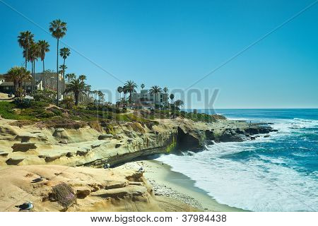 San Diego California Coast Line, La Jolla Shores in San Diego, California USA
