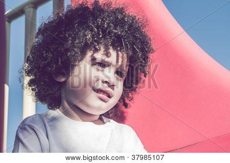 Cute Curly Hair Kid