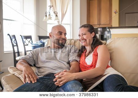 Couple Spending Time Together At Home