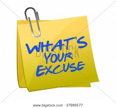 What's Your Excuse Illustration Design