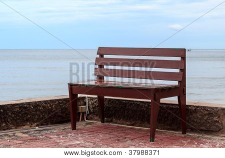 Wooden Chair On Terrace
