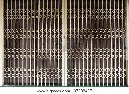The Shot Of Antique Grille Sliding Door