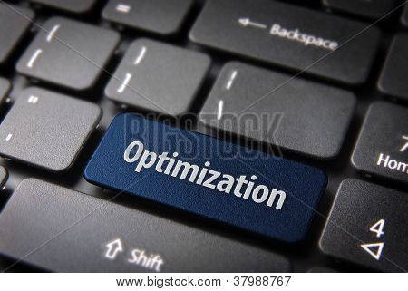 Blue Optimization Keyboard Key