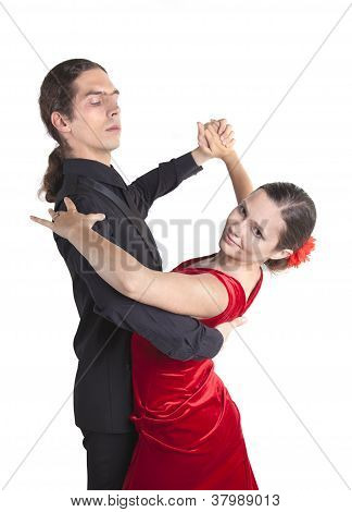 junges Paar Tanzen Walzer