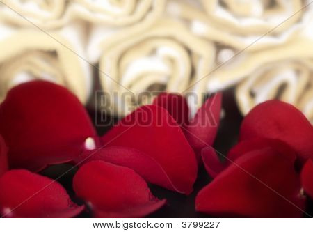 Red Rose And Petal Spa Scene