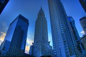 pic of modern building  - Chrysler Building in Manhattan New York at dusk - JPG