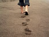 pic of footprints sand  - footprints - JPG