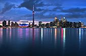 picture of urbanisation  - Scenic view at Toronto city waterfront skyline at night