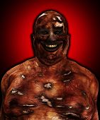 foto of festering  - Very fat and horrible looking Zombie for Halloween - JPG
