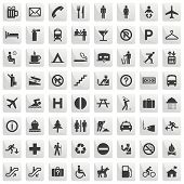 stock photo of transportation icons  - pictograms set  - JPG