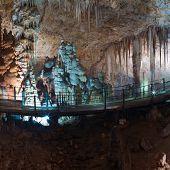 stock photo of carlsbad caverns  - Stalactite stalagmite cavern - JPG