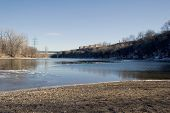 Mississippi River At Historic Fort Snelling, Minneapolis, Mn poster