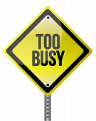 Too Busy Yellow Illustration Design