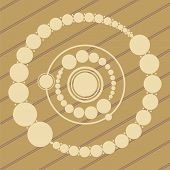foto of unexplained  - ufo crop circles design in wheat - JPG