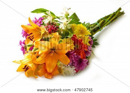 Beautiful Bouquet Of Bright Flowers