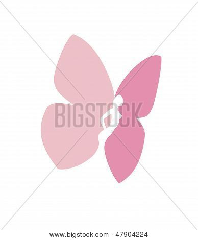 Woman body silhouette with butterfly wings- vector sign Butterfly.eps