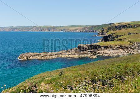 Cornish coast Port Isaac direction of Tintagel Cornwall England UK