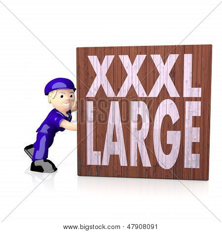 Illustration Of A 3D Xl Symbol  On Delivered Box