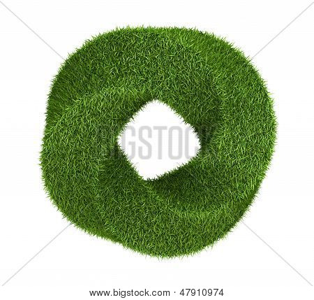 Green grass abstract shape donut