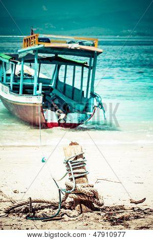 Beautiful Sea And Coastlines Of Gili Trawangan, Indonesia.