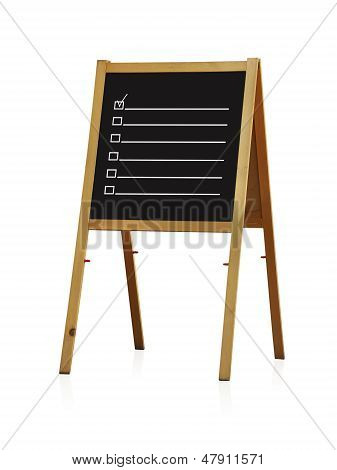 Chalk Board With Checkbox