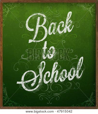 Back to school. Chalk blackboard vector.