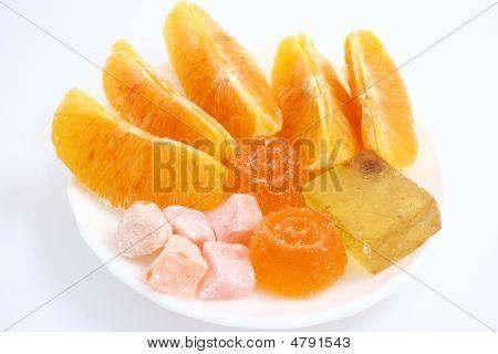 Sobremesa de laranja