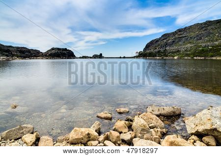 Lake In Serra Da Estrela In Portugal