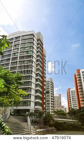 Orange Color Residential Apartments