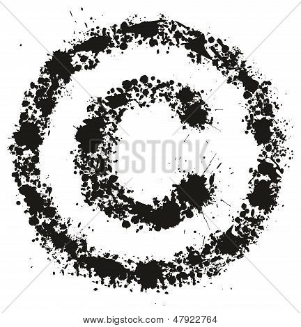 Grunge Copyright Sign - Conceptual Vector Illustration