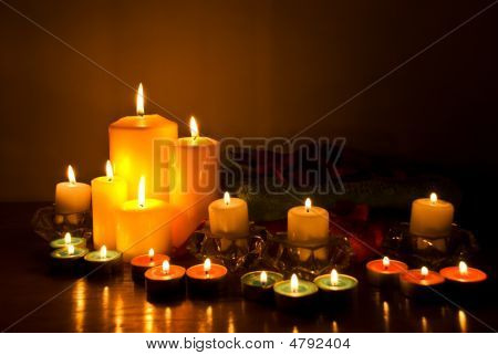Spa With Candle Lights