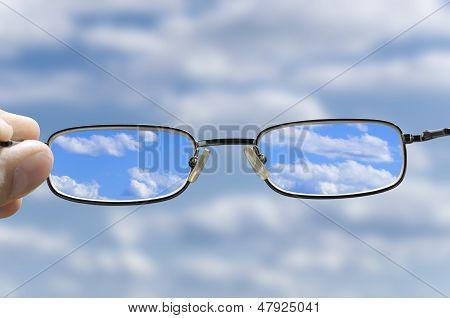 Ver o céu através dos vidros