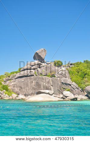 Turquoise water of Andaman Sea at Similan islands, Thailand