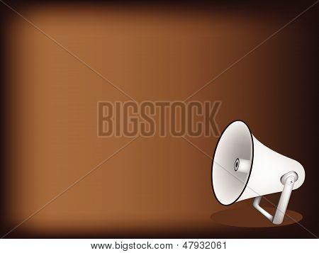 A Set Of Megaphone On Dark Brown Background