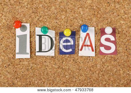 Ideas on a Cork Board