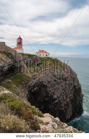 Lighthouse On The Cliffs
