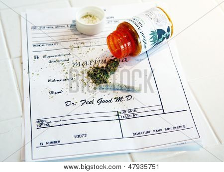 Medical Marijuana prescription with a